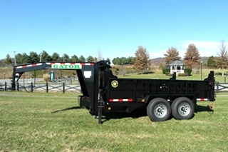 12' GOOSENECK DUMP TRAILER FOR SALE